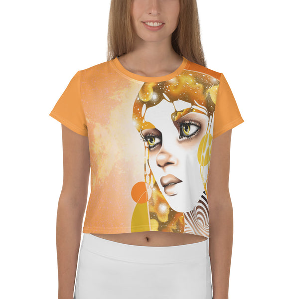 """Sun"" Women's Allover Crop Top 
