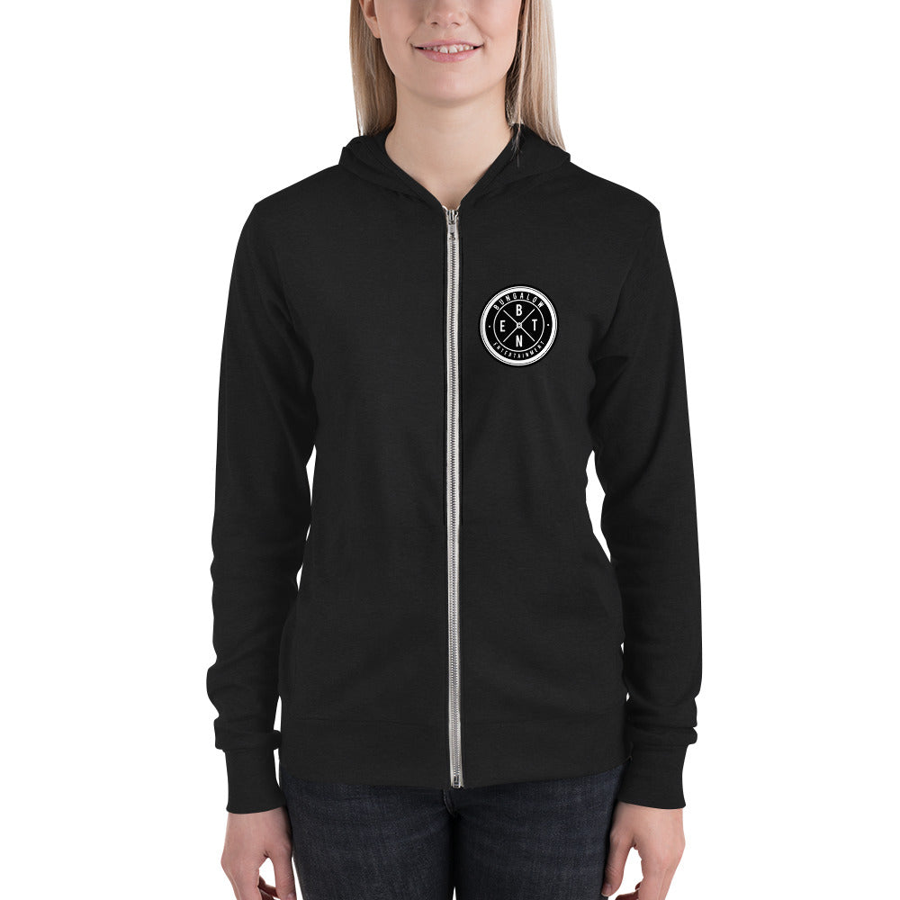 Bungalow Entertainment Unisex Zip Hoodie