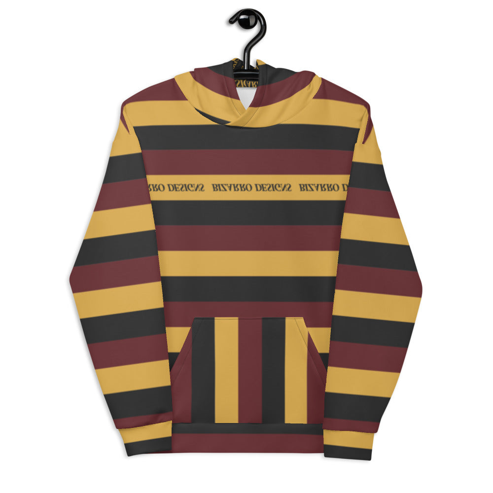 Tri-Stripe Unisex Hoodie - Maroon/Mustard | Fall/Winter 2020
