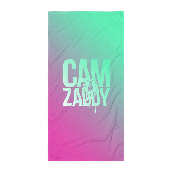 CAM IS MY ZADDY Beach Towel | Painkiller Cam