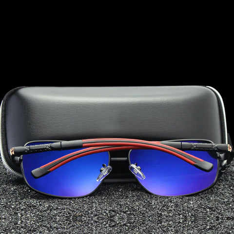 Image of Polarized Aluminum Aviator - Size Wide - Eyewear Glasses Store