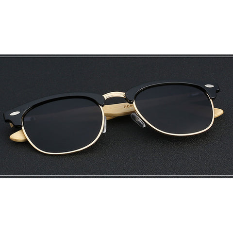 Bamboo, Acetate & Metal - Size Medium - Eyewear Glasses Store