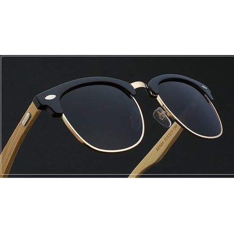 Image of Bamboo, Acetate & Metal - Size Medium - Eyewear Glasses Store