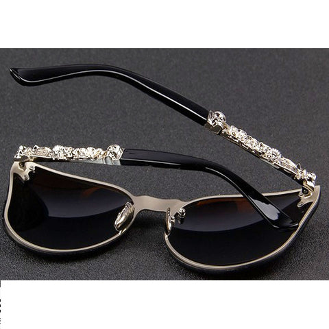 High Fashion Gothic Skull - Size Wide - Eyewear Glasses Store