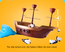 Load image into Gallery viewer, Penguin Balance Pirate Ship Balancing Toy