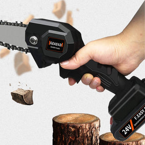 Mini Battery-Powered Chainsaw