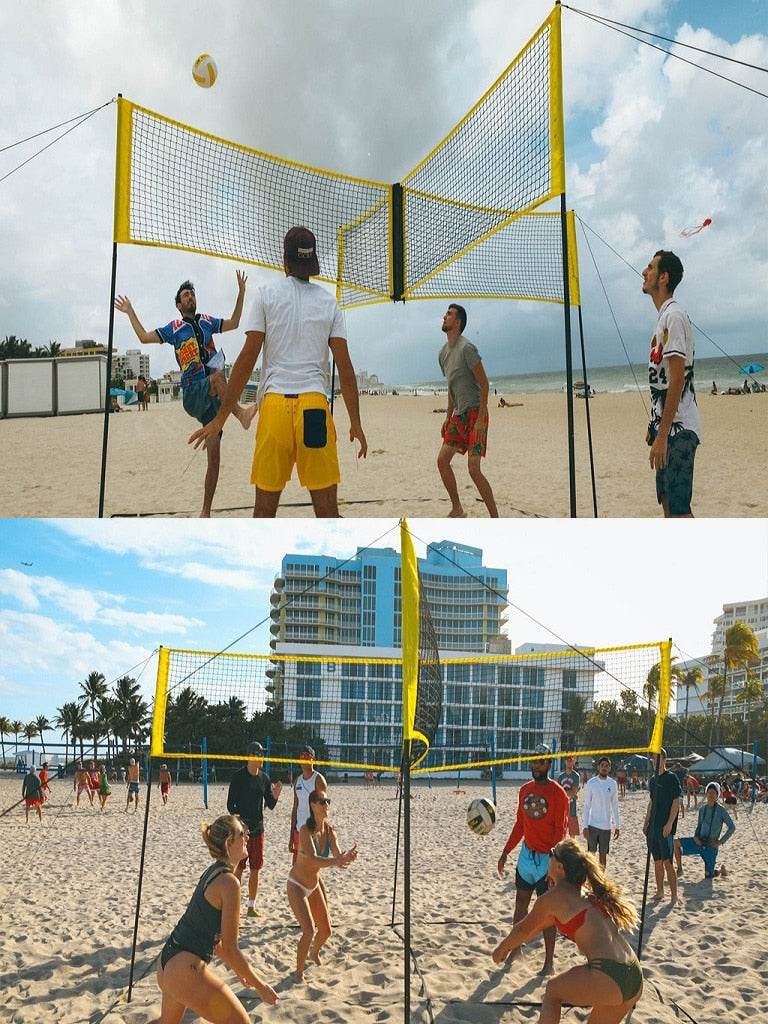 (Last stock &Hot sale) Cross-shaped volleyball game set