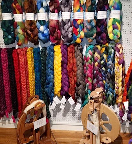 Roving and braids at Woolyn