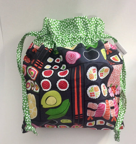 Bento Box Drawstring Project Bag