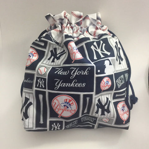 Yankees Drawstring Project Bag - Custom Order for Liz D.