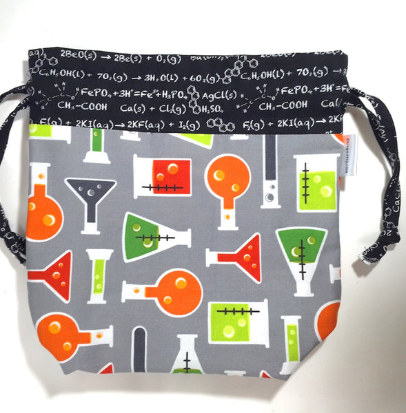 Science Fair Formulas Drawstring Project Bag