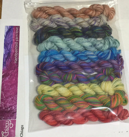 Chiagu10 pack 25 yard Koigu mini skeins
