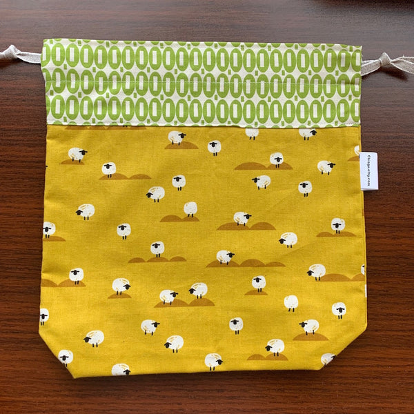 Grazing Sheep Drawstring Project Bag