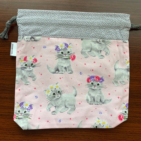 Adorable Kitten Drawstring Project Bag