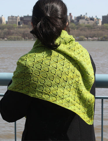 Loida Shawl Easy Lace Knitting Pattern