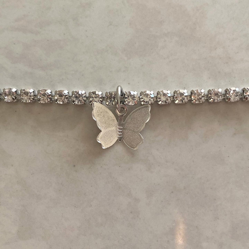 Icy Butterfly Choker