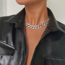 Load image into Gallery viewer, Silver Cuban Choker