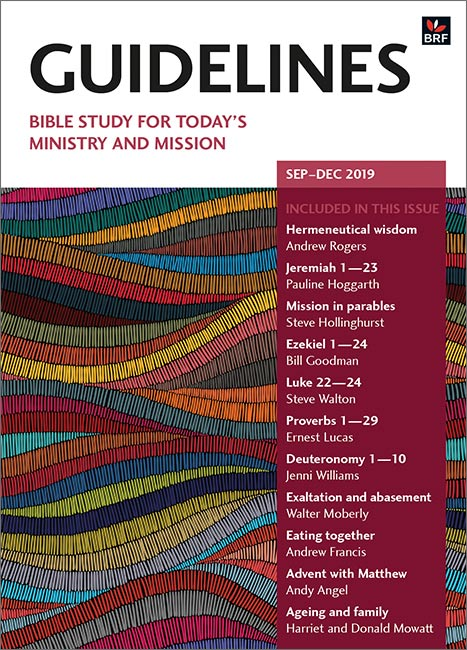 Guidelines September-December 2019: Bible study for today's ministry and mission