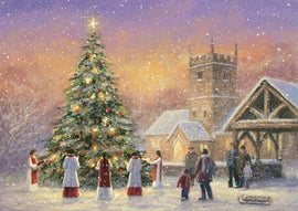 Christmas card - No.  15. Choir Around the Tree (Pack of 10)