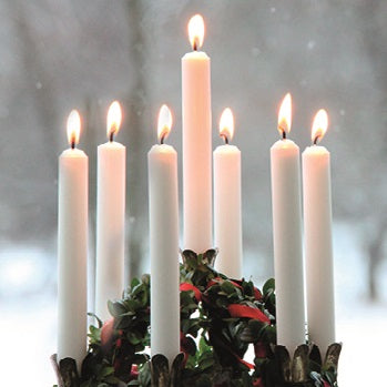 Christmas card - No.  12. Christmas candles (Pack of 10)