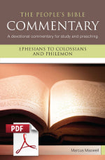The People's Bible Commentary - Ephesians to Colossians and Philemon: A devotional commentary for study and preaching