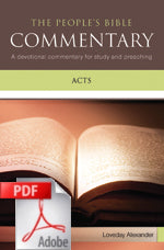 The People's Bible Commentary - Acts: A devotional commentary for study and preaching