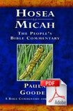 The People's Bible Commentary - Hosea to Micah: A Bible commentary for every day