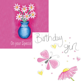 Everyday cards - Birthday Girl and On Your Special Day (Pack of 6 cards, 3 of each design)