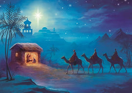 Christmas card - No.  16. Following Yonder Star (Pack of 10)