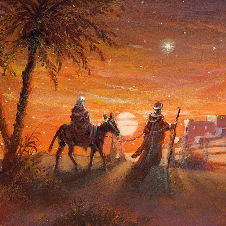 Christmas card - No.  11. Journey to Bethlehem (Pack of 10)