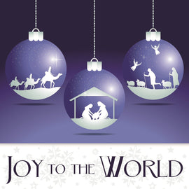Christmas card - No.  4. Joy to the World (Pack of 10)