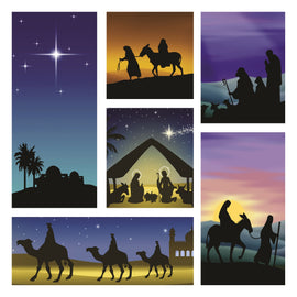 Christmas card - No.  6. Nativity Scenes (Pack of 10)