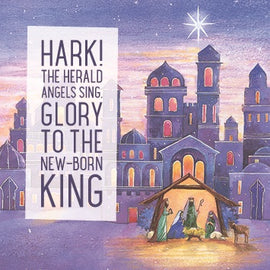 Christmas card - No.  7. Nativity (Pack of 10)