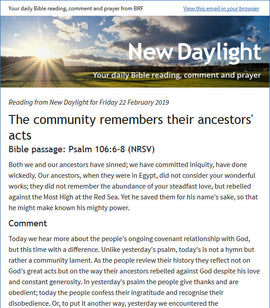 Subscribe to New Daylight by email: Sustaining your daily journey with the Bible