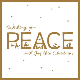 Christmas card - No.  9. Peace (Pack of 10)