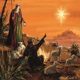 Christmas card - No.  5. Shepherds (Pack of 10)