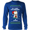All I Want For Christmas Is Books Snoopy The Peanuts Movie Sweatshirt-T-shirt-Long Sleeve Shirt-Royal Blue-S-Geek Mundo Store