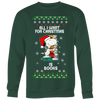 All I Want For Christmas Is Books Snoopy The Peanuts Movie Sweatshirt-T-shirt-Crewneck Sweatshirt Big Print-Dark Green-S-Geek Mundo Store