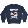 Labrador Retriever Best Friends For Life Dog Shirts-T-shirt-Crewneck Sweatshirt-Navy-S-Geek Mundo Store