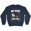 Rottweiler Best Friends For Life Dog Shirts-T-shirt-Crewneck Sweatshirt-Navy-S-Geek Mundo Store