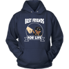 Rottweiler Best Friends For Life Dog Shirts-T-shirt-Unisex Hoodie-Navy-S-Geek Mundo Store