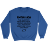 Football Mom The Sweetest Most Beautiful Loving Amazing Evil Psychotic Creature You'll Ever Meet Sweatshirts-T-shirt-Crewneck Sweatshirt-Royal-S-Itees Global