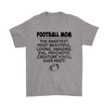 Football Mom The Sweetest Most Beautiful Loving Amazing Evil Psychotic Creature You'll Ever Meet Sweatshirts-T-shirt-Gildan Mens T-Shirt-Sport Grey-S-Itees Global