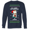 All I Want For Christmas Is Books Snoopy The Peanuts Movie Sweatshirt-T-shirt-Crewneck Sweatshirt Big Print-Navy-S-Geek Mundo Store