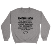Football Mom The Sweetest Most Beautiful Loving Amazing Evil Psychotic Creature You'll Ever Meet Sweatshirts-T-shirt-Crewneck Sweatshirt-Sport Grey-S-Itees Global