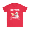 Labrador Retriever Best Friends For Life Dog Shirts-T-shirt-Gildan Womens T-Shirt-Red-S-Geek Mundo Store
