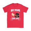 Rottweiler Best Friends For Life Dog Shirts-T-shirt-Gildan Womens T-Shirt-Red-S-Geek Mundo Store