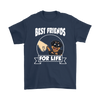 Rottweiler Best Friends For Life Dog Shirts-T-shirt-Gildan Mens T-Shirt-Navy-S-Geek Mundo Store