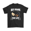 Rottweiler Best Friends For Life Dog Shirts-T-shirt-Gildan Mens T-Shirt-Black-S-Geek Mundo Store