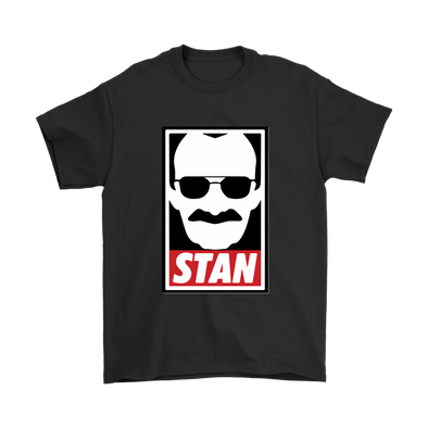 Stan Lee Marvel Comic Spider Man Our Hero Shirt-T-shirt-Gildan Mens T-Shirt-Black-S-Itees Global